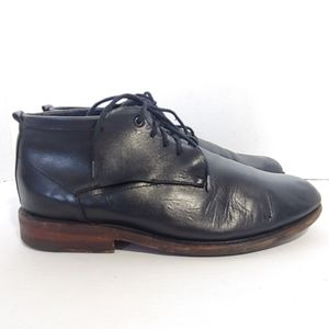 Sutro of San Francisco black leather lace up boots